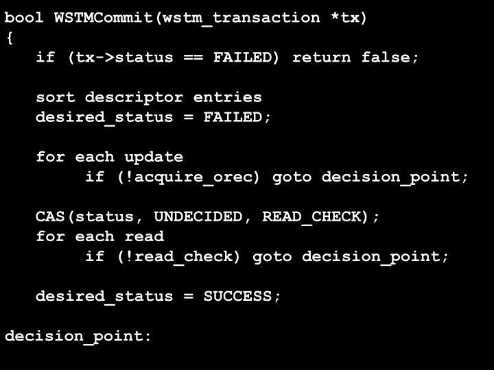 bool WSTMCommit(wstm_transaction *tx)