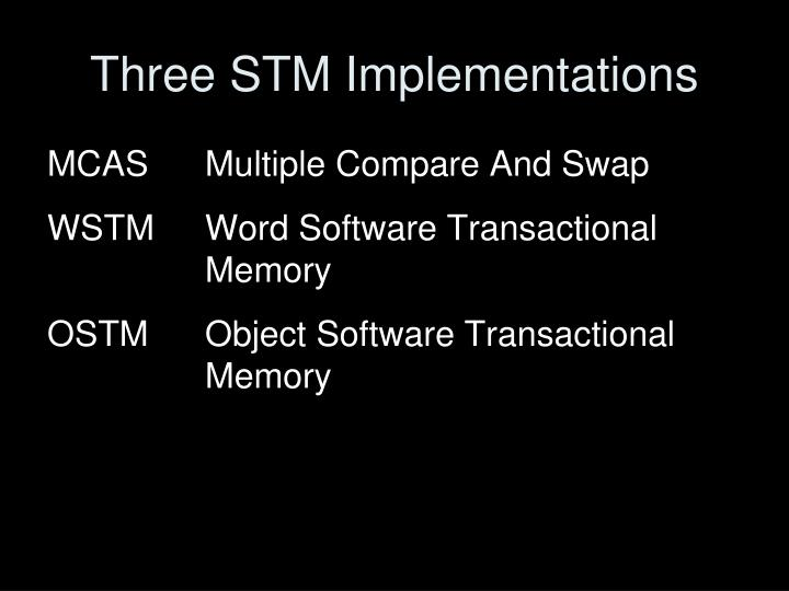 Three STM Implementations