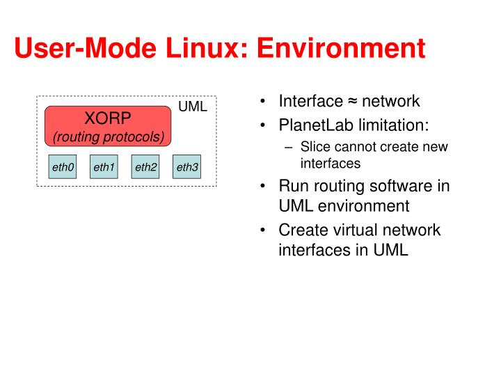 User-Mode Linux: Environment