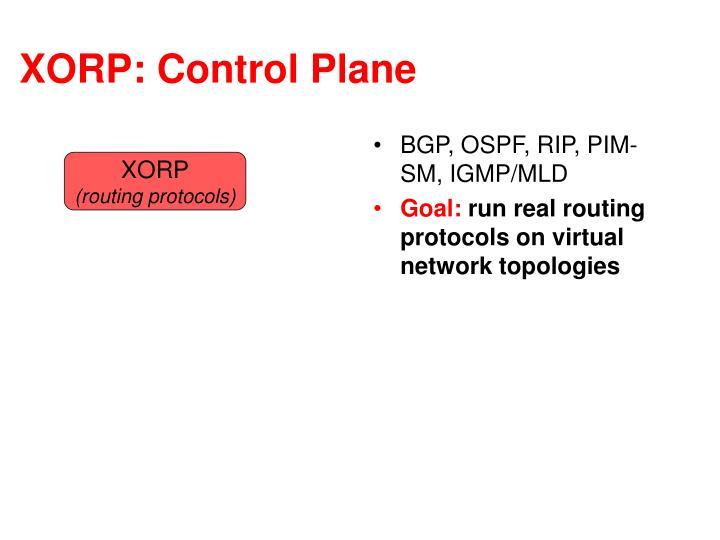 XORP: Control Plane