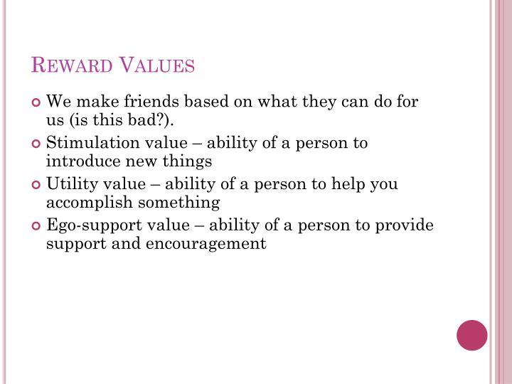 Reward Values