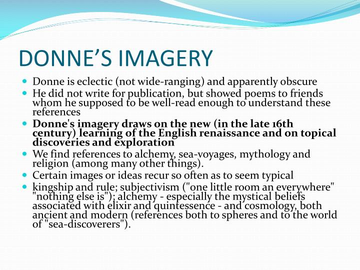DONNE'S IMAGERY