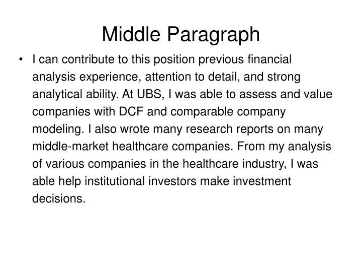 Middle Paragraph