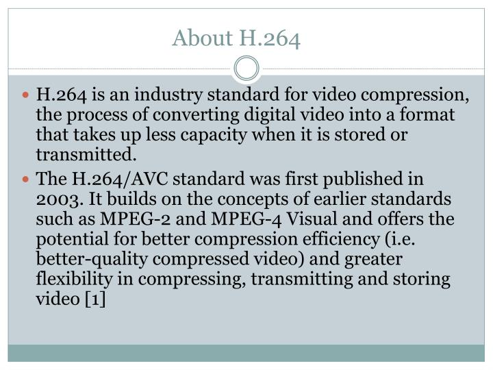 About h 264