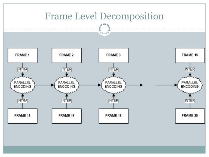 Frame Level Decomposition