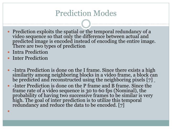 Prediction Modes