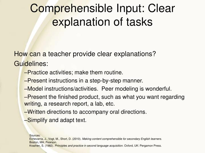 How can a teacher provide clear explanations?