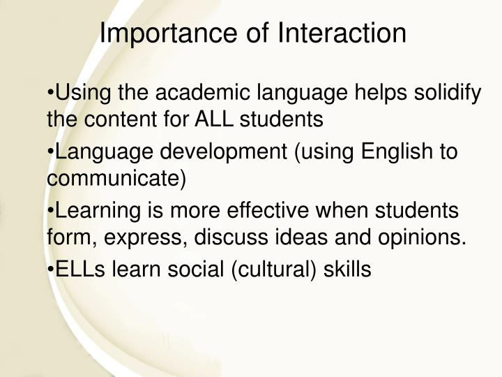 Using the academic language helps solidify the content for ALL students