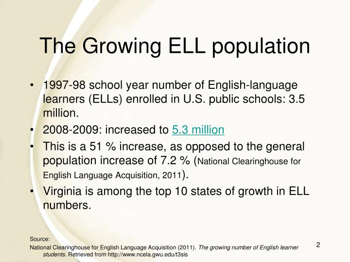 The Growing ELL population