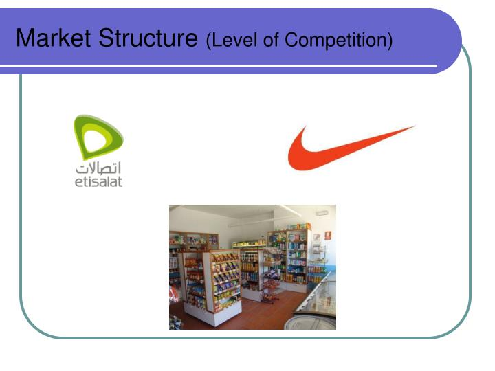 Market structure level of competition