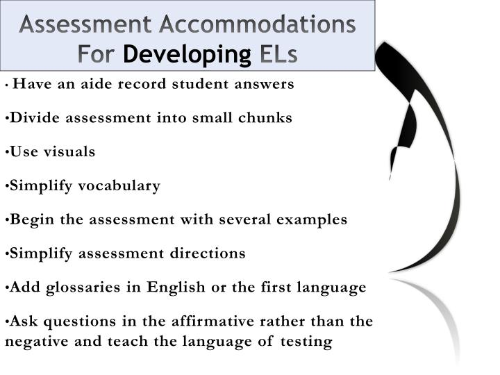 Assessment Accommodations For
