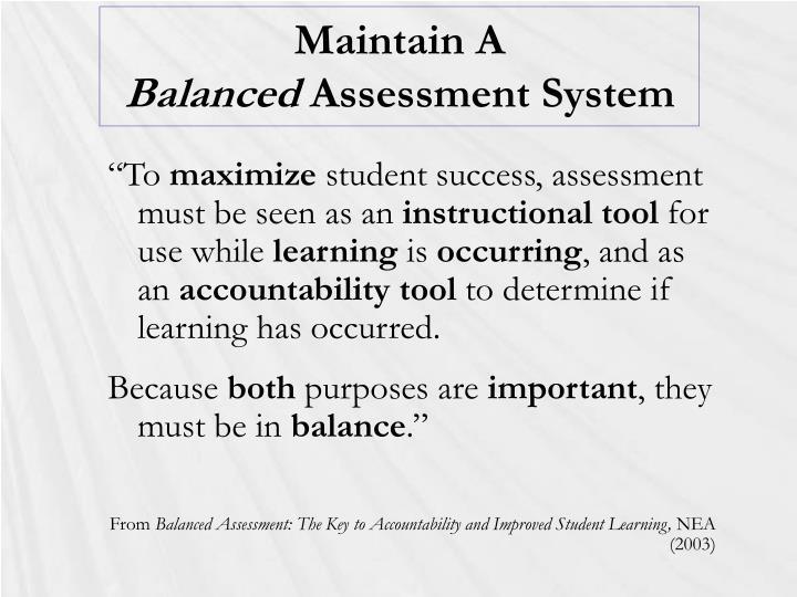 Maintain A