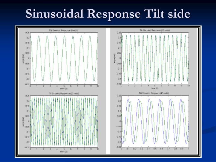 Sinusoidal Response Tilt side