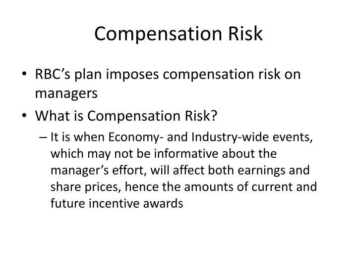 Compensation Risk
