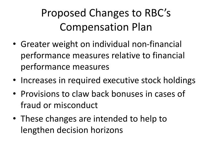 Proposed Changes to RBC's