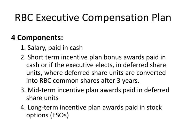 RBC Executive Compensation Plan