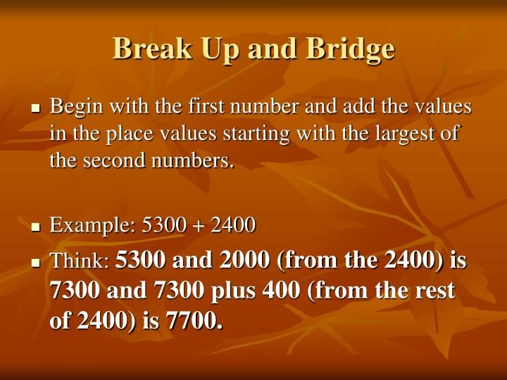 Break Up and Bridge