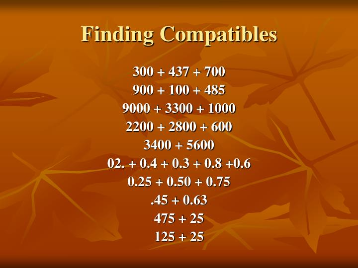 Finding Compatibles