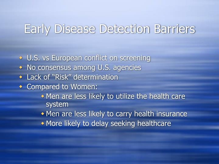 Early Disease Detection Barriers