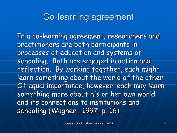 Co-learning agreement