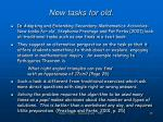 new tasks for old