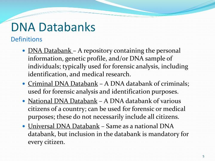 DNA Databanks