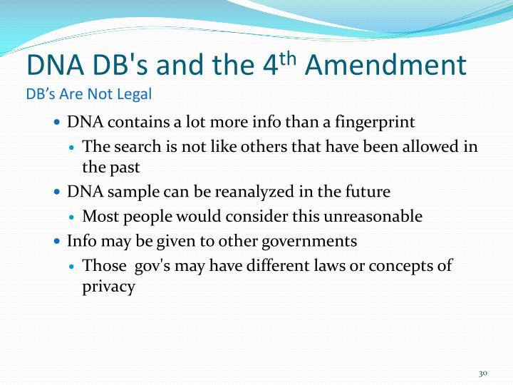 DNA DB's and the 4