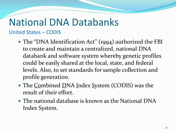 National DNA Databanks