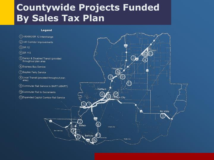 Countywide Projects Funded By Sales Tax Plan