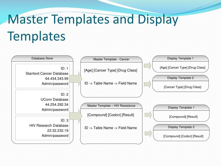 Master Templates and Display Templates