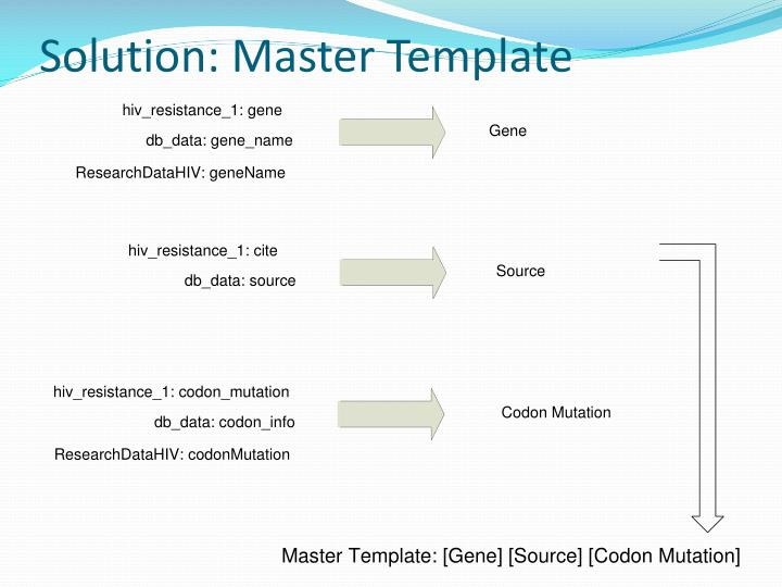 Solution: Master Template