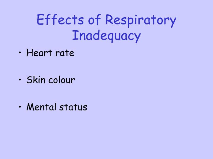 Effects of Respiratory Inadequacy