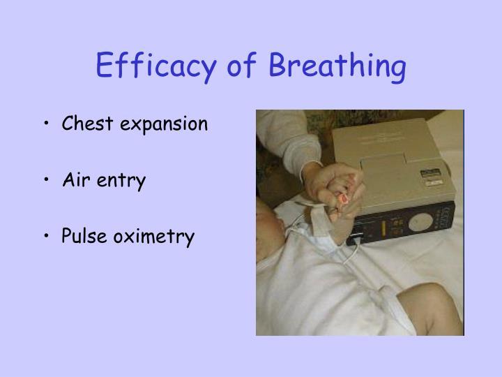 Efficacy of Breathing