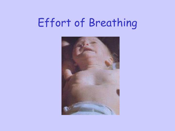 Effort of Breathing