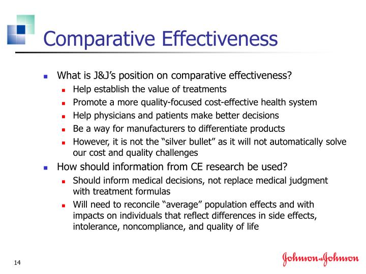 Comparative Effectiveness