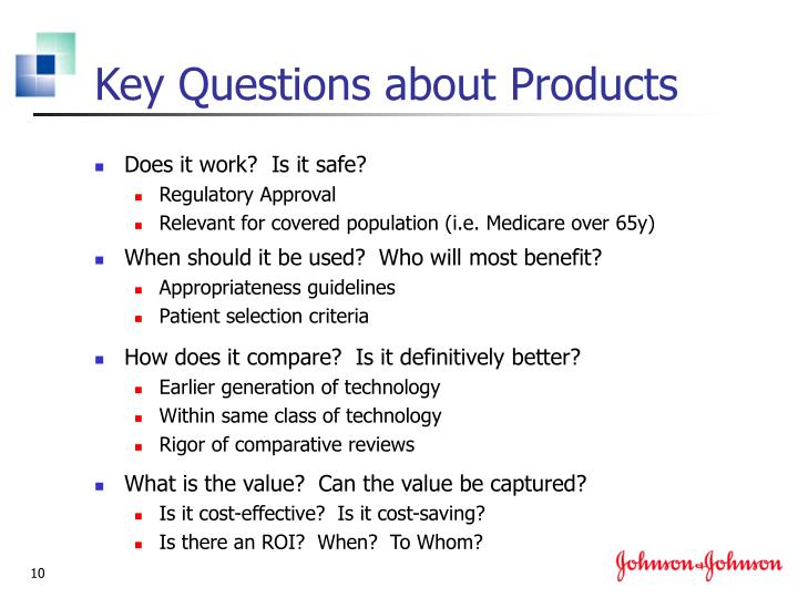 Key Questions about Products
