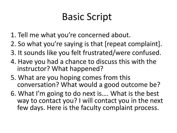 Basic Script