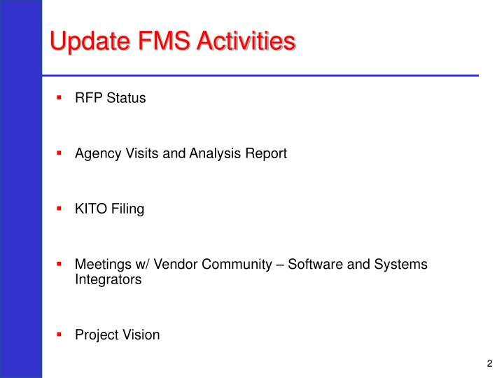 Update FMS Activities