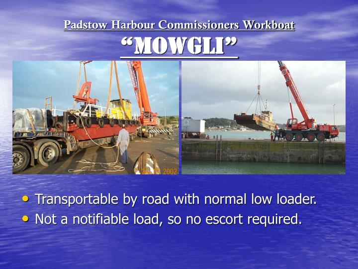 Padstow Harbour Commissioners Workboat