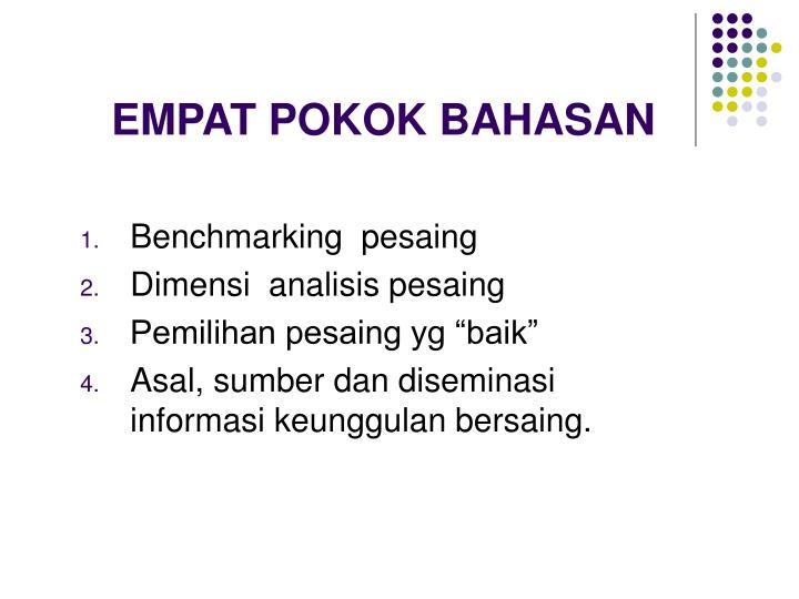 EMPAT POKOK BAHASAN