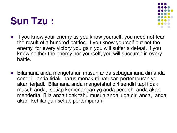 Sun Tzu :