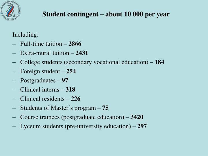 Student contingent