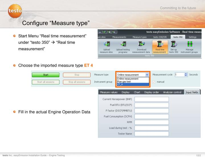 "Configure ""Measure type"""
