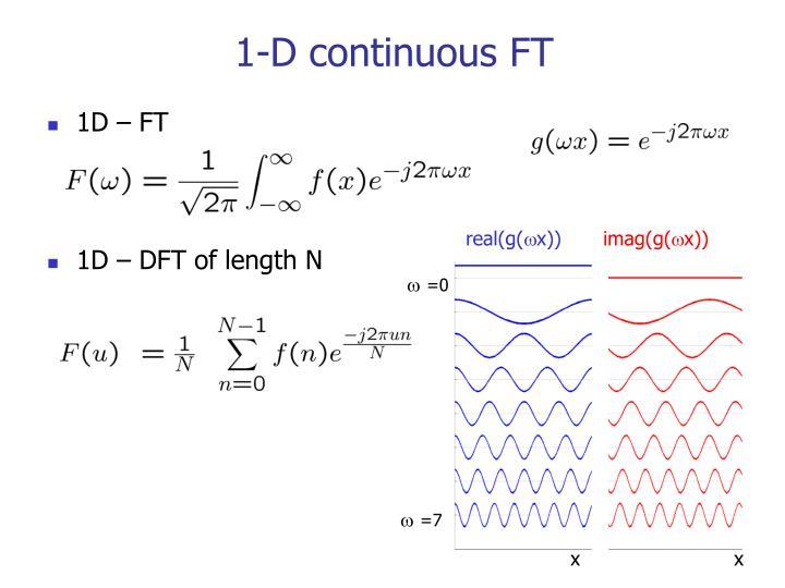 1-D continuous FT