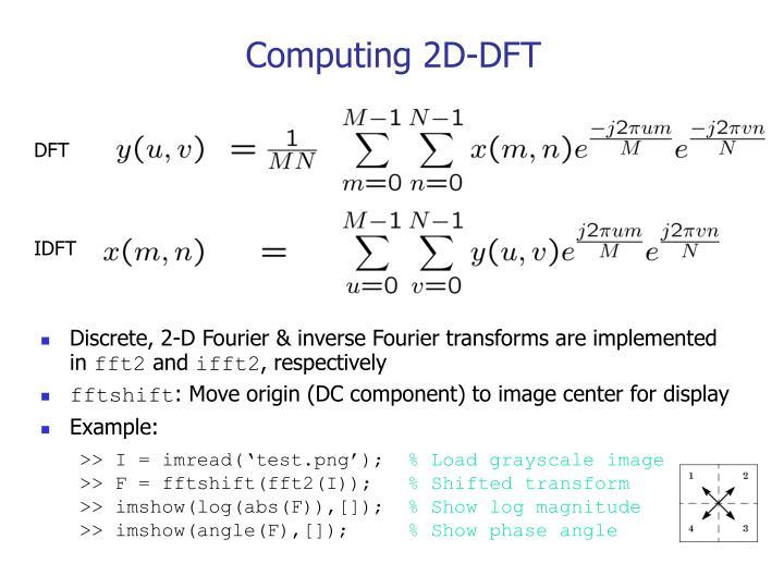 Computing 2D-DFT