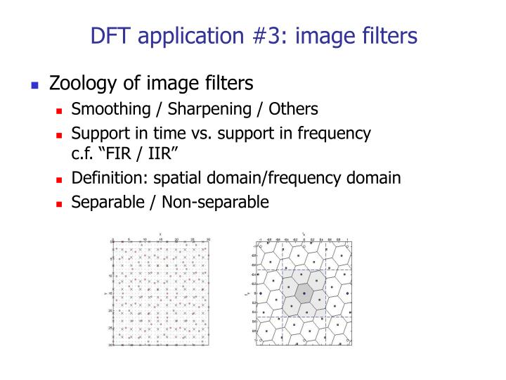 DFT application #3: image filters