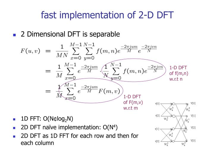 fast implementation of 2-D DFT