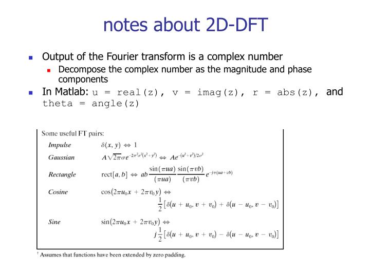 notes about 2D-DFT