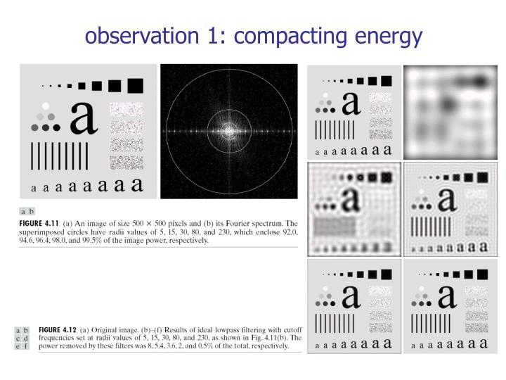 observation 1: compacting energy