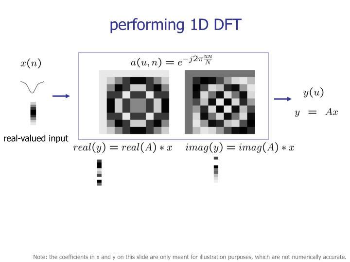 performing 1D DFT